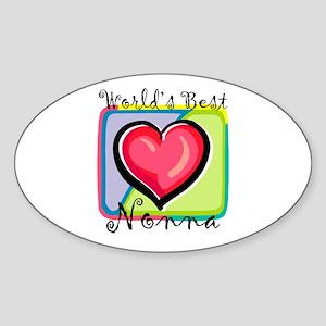 WB Grandma [Italian] Oval Sticker